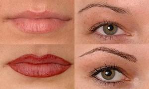 Rezultaty profesjonalnie wykonanego makijażu permanentnego.